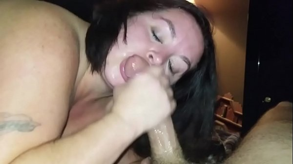 Sexy BBW Sucks Dick and Squirts all Over Cock